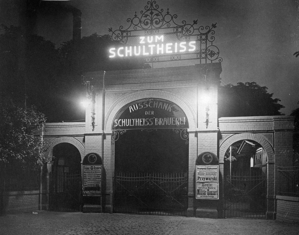 The serving counter of the Schultheiss Union Brewery in Berlin-Hasenheide