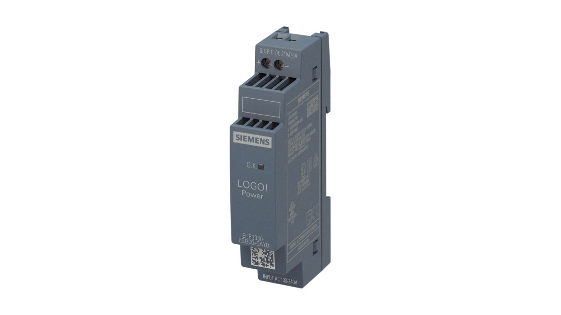 Product image LOGO!Power, 1-phase, 24 V/0.6 A