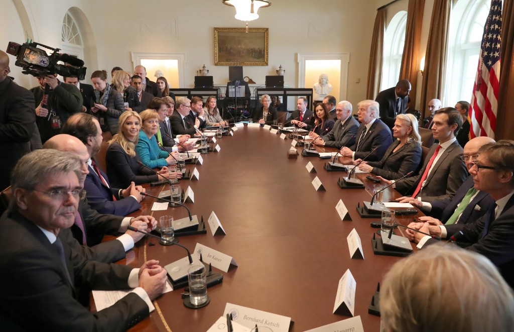 Siemens-CEO Kaeser on his visit to the White House