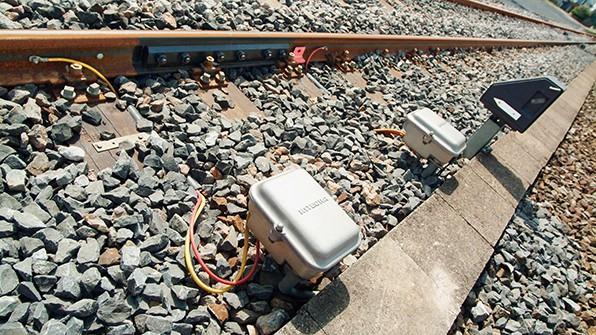 Produkt Clearguard UGSK3 entlang der Zugsschiene