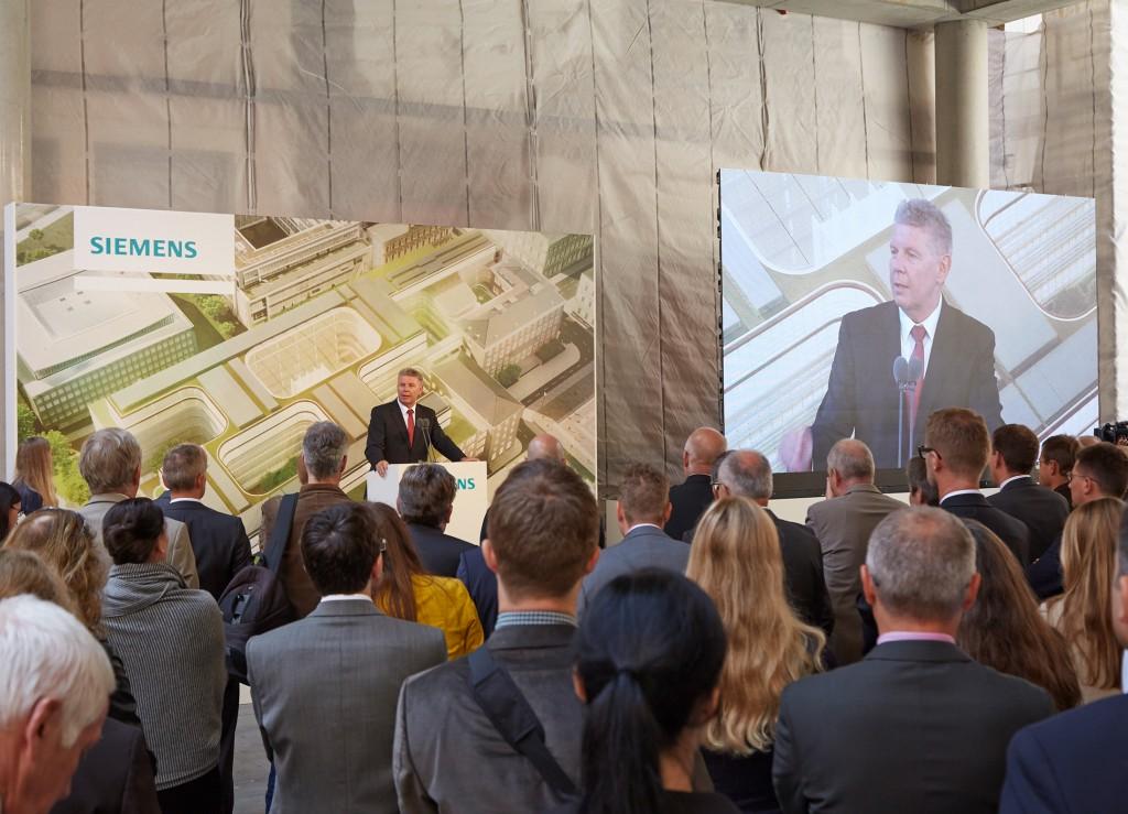 Richtfest in der neuen Siemens Konzernzentrale