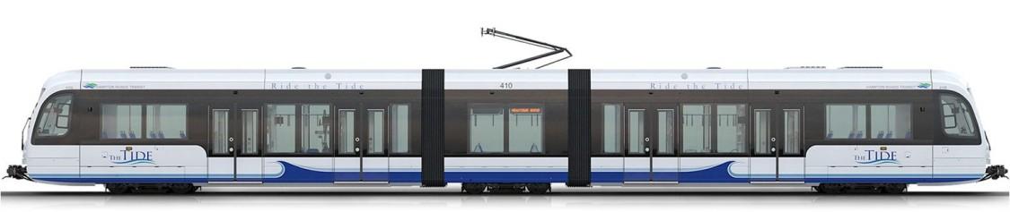 S70 veículo leve sobre trilhos de piso baixo – visão lateral