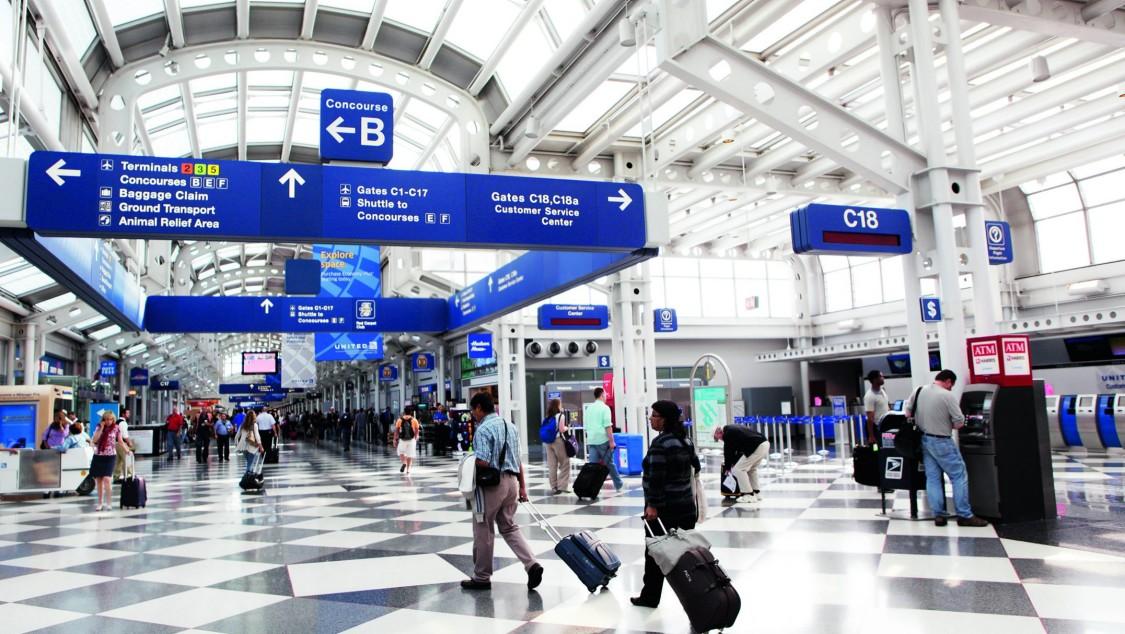 Chicago O'hare airport terminal