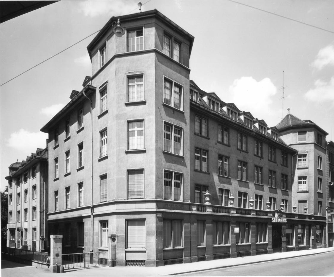 Hauptsitz in der Züricher Löwenstraße, 1903