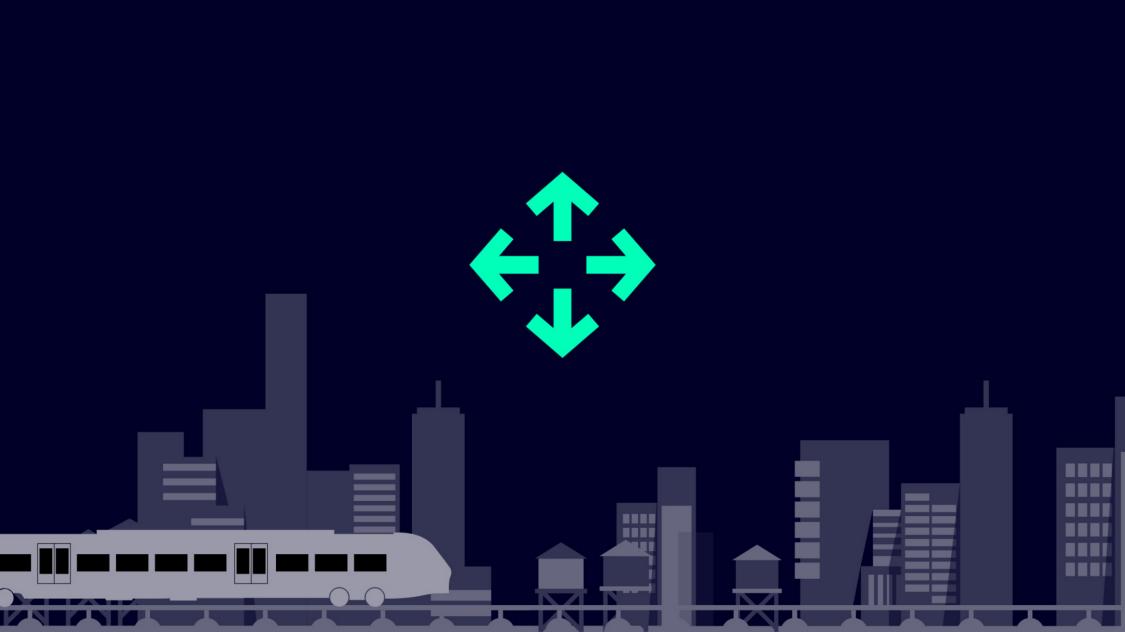 Icon für Flexible Kapazitätsanpassung durch verschiedene Wagenkasten-Längen und Zugkonfigurationen