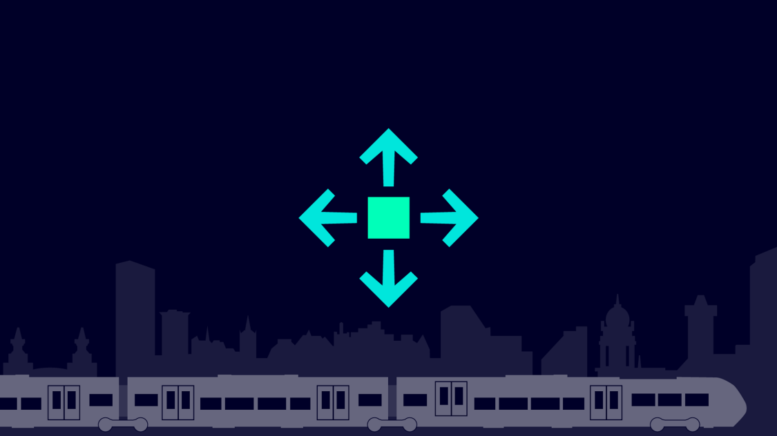 Icon for flexible capacity adjustment through different car body lengths and train configurations