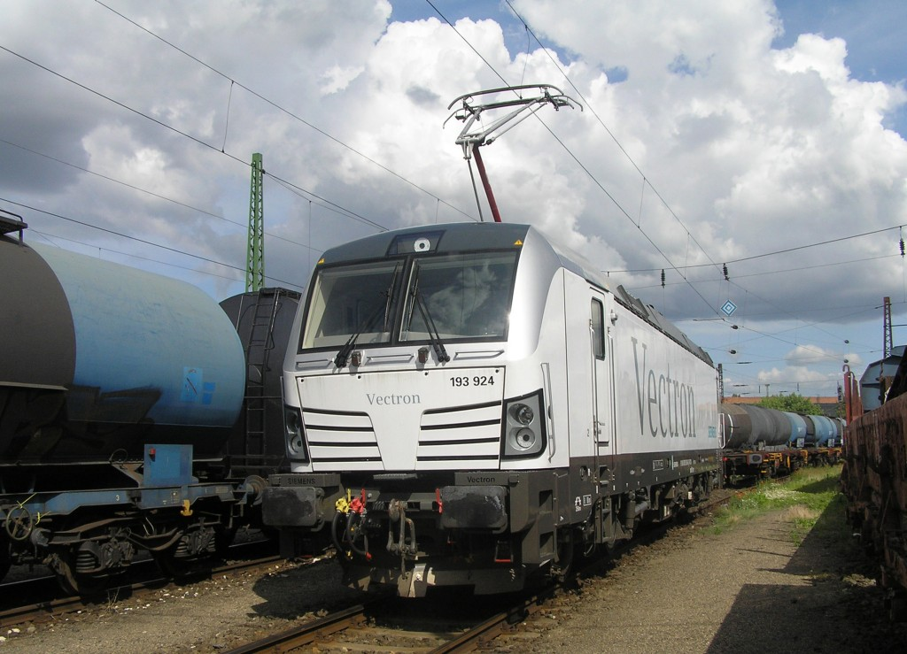 The photo shows the Vectron AC variant in Ferencvaros, Hungary in June 12, 2013.