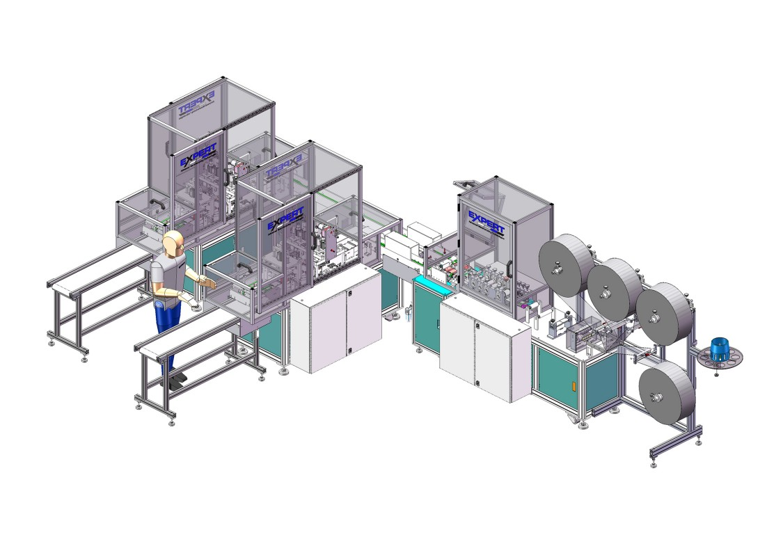 Expert Tooling and Automation face covering manufacturing machine