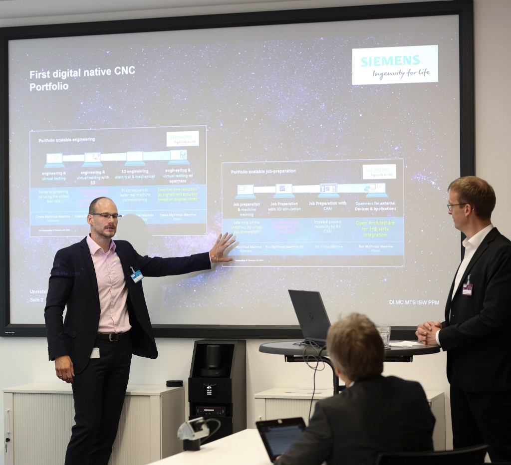 Siemens Press Conference ahead of the EMO Hannover 2019