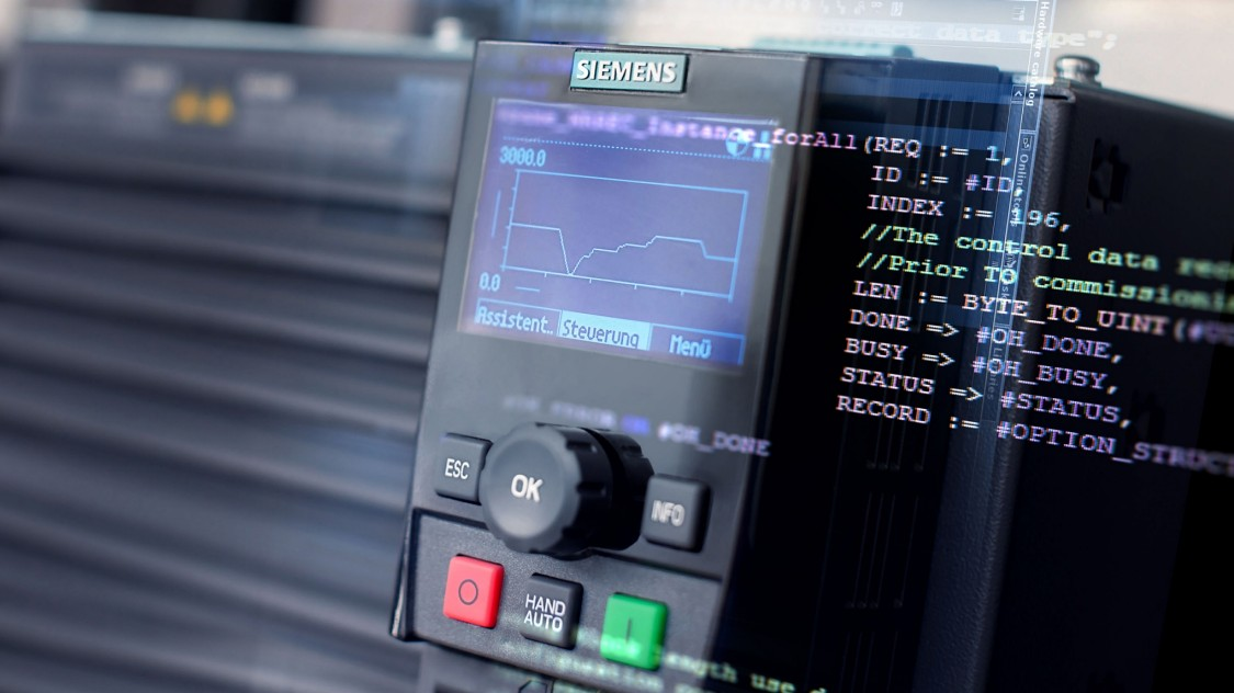 Como funciona a troca de dados entre o CLP e Inversor da SIEMENS