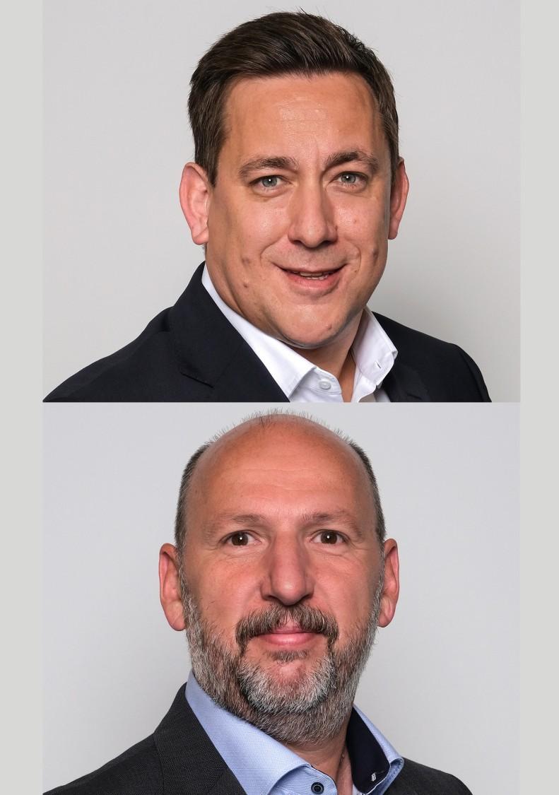 Dipl.-Ing. (FH) Timo Seyfried (Sprecher der Geschäftsführung) und Harald Rest