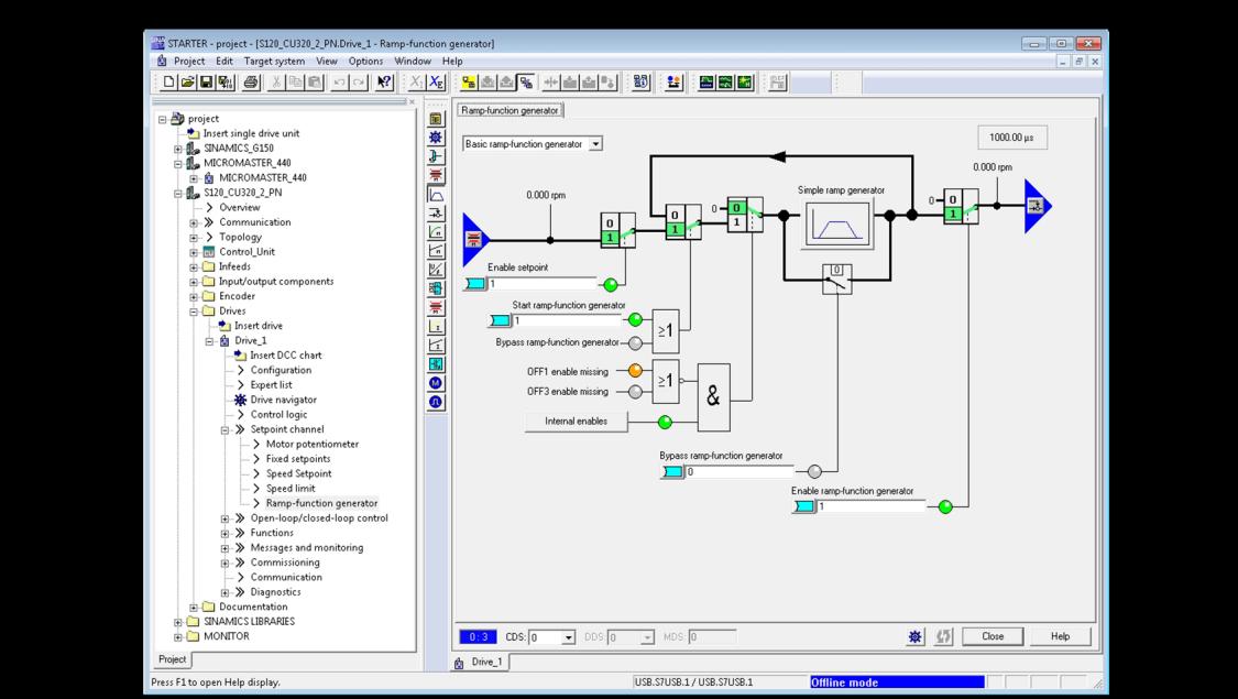 Screenshot Inbetriebnahmesoftware STARTER Dashboard