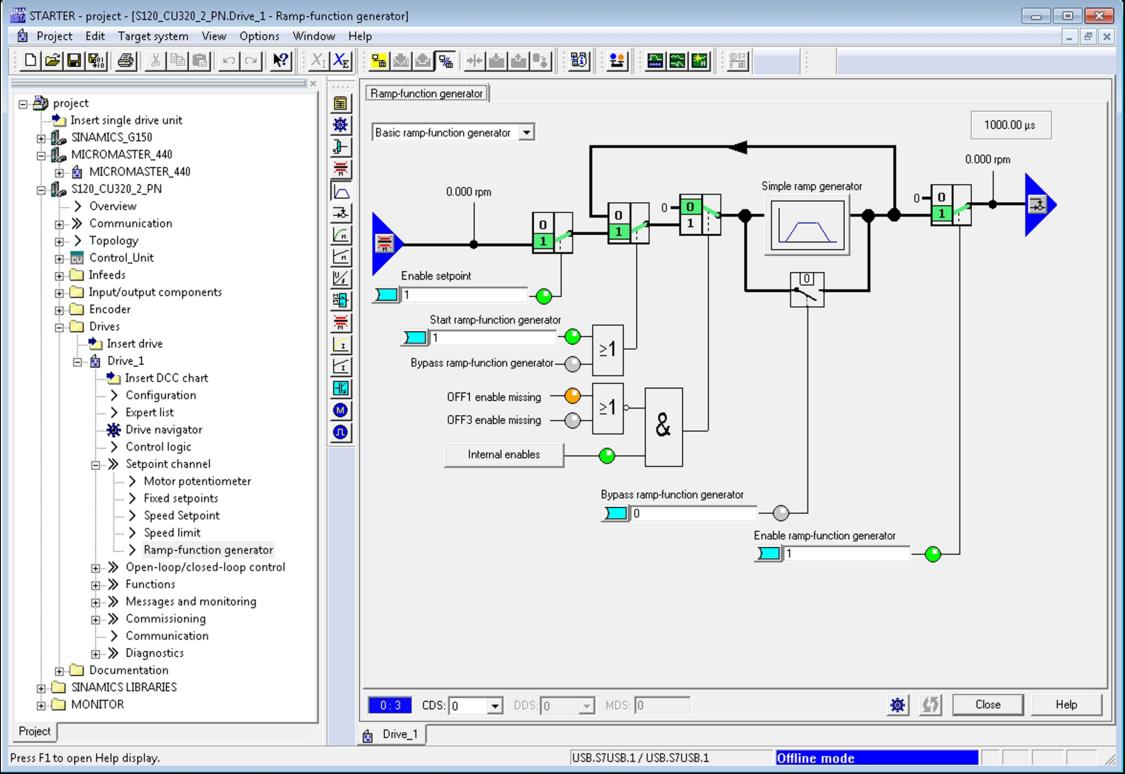 Screenshot STARTER commissioning tool dashboard