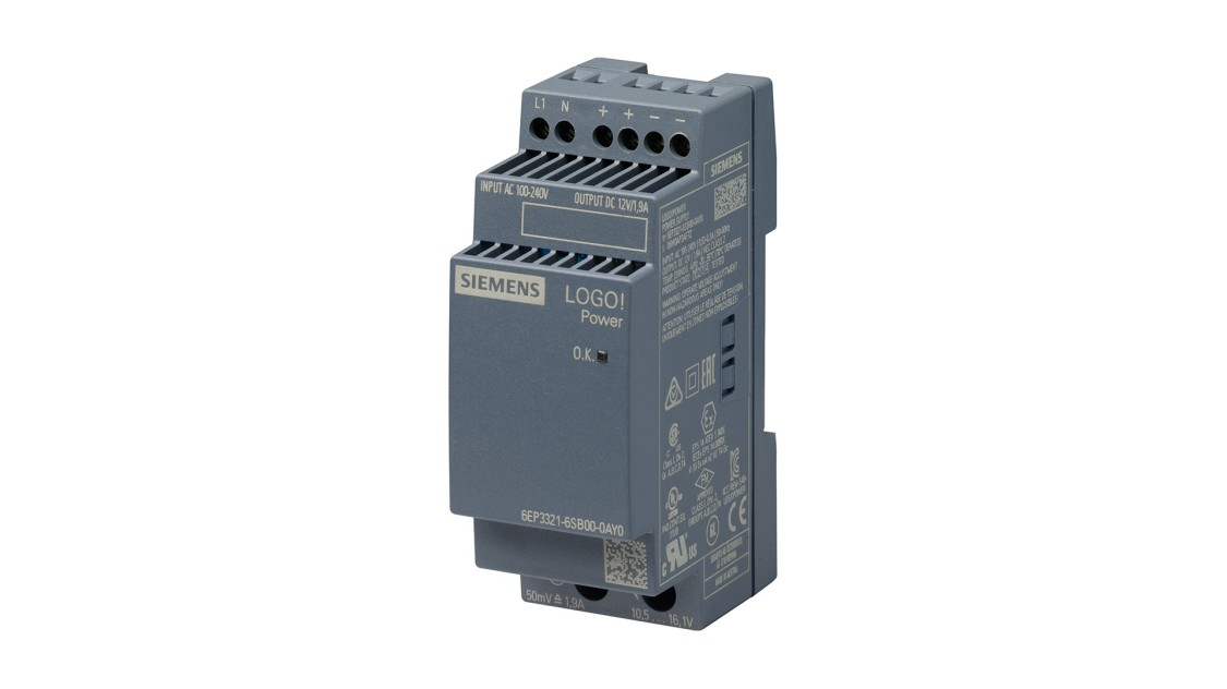Product image LOGO!Power, 1-phase, 12 V/1.9 A