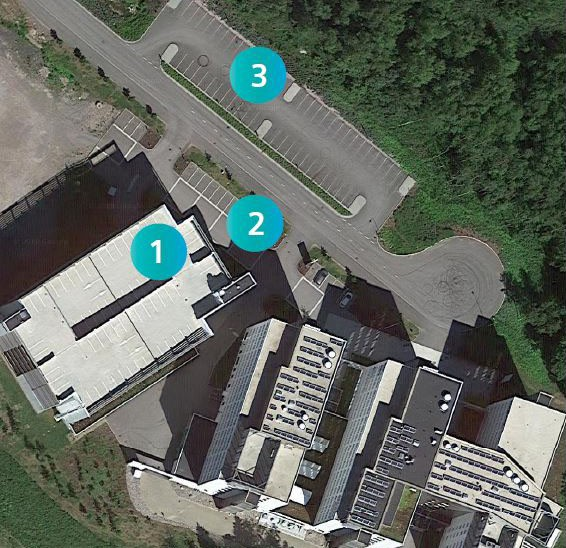 Siemens parking area