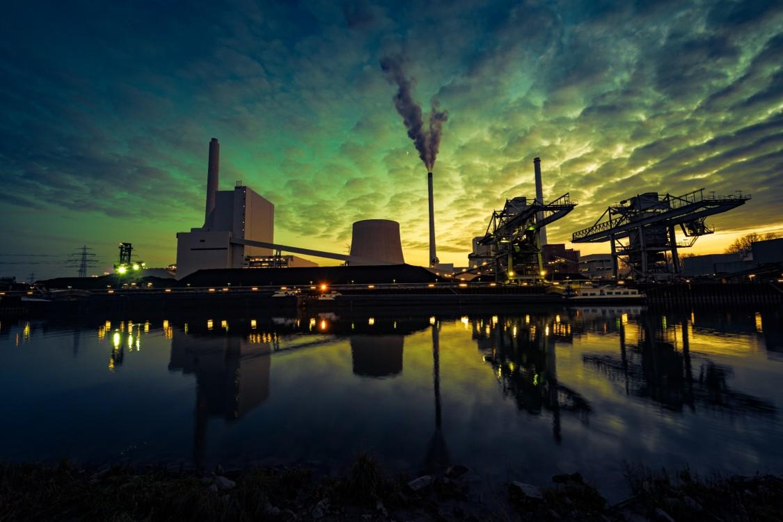 Power plant near water