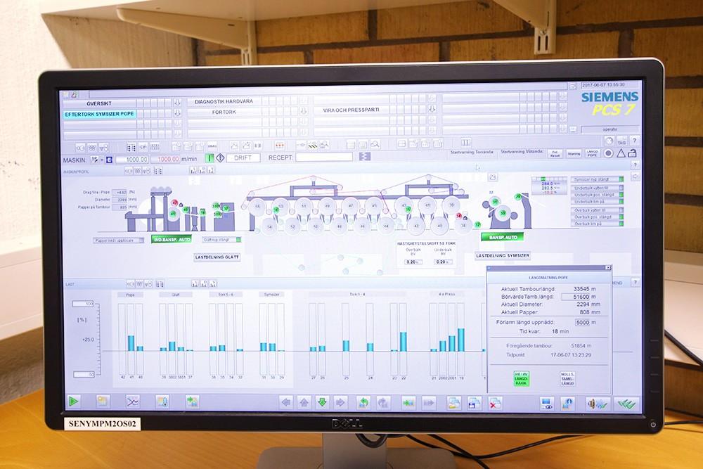 Mer data och trendinformation och bättre möjlighet att felsöka får Stora Enso Nymölla Bruk tack vare processtyrsystemet Simatic PCS 7 som har färdigt modulbibliotek för massa- och pappersindustrin, Sipaper DCS APL. Processtyrsystemet pratar med egna överordnade system DNA via Profibus och OPC.