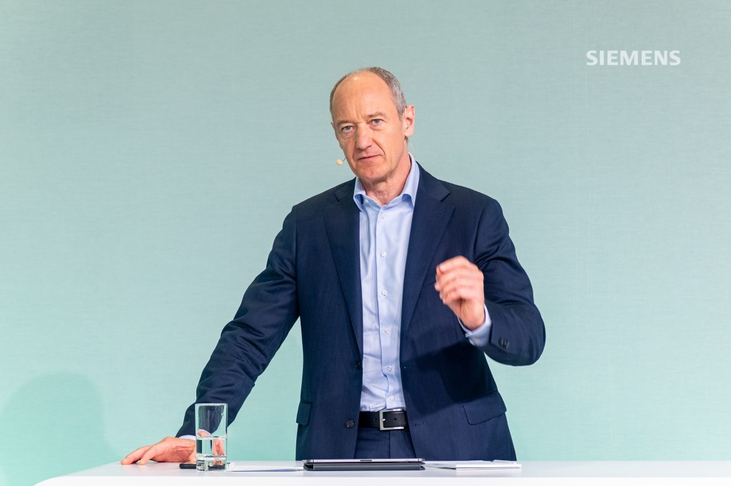 Siemens AG's Capital Market Day on June 24, 2021:Roland Busch, Siemens President and CEO, answering questions from analysts, who are participating virtually in the event held at Siemens headquarters in Munich.