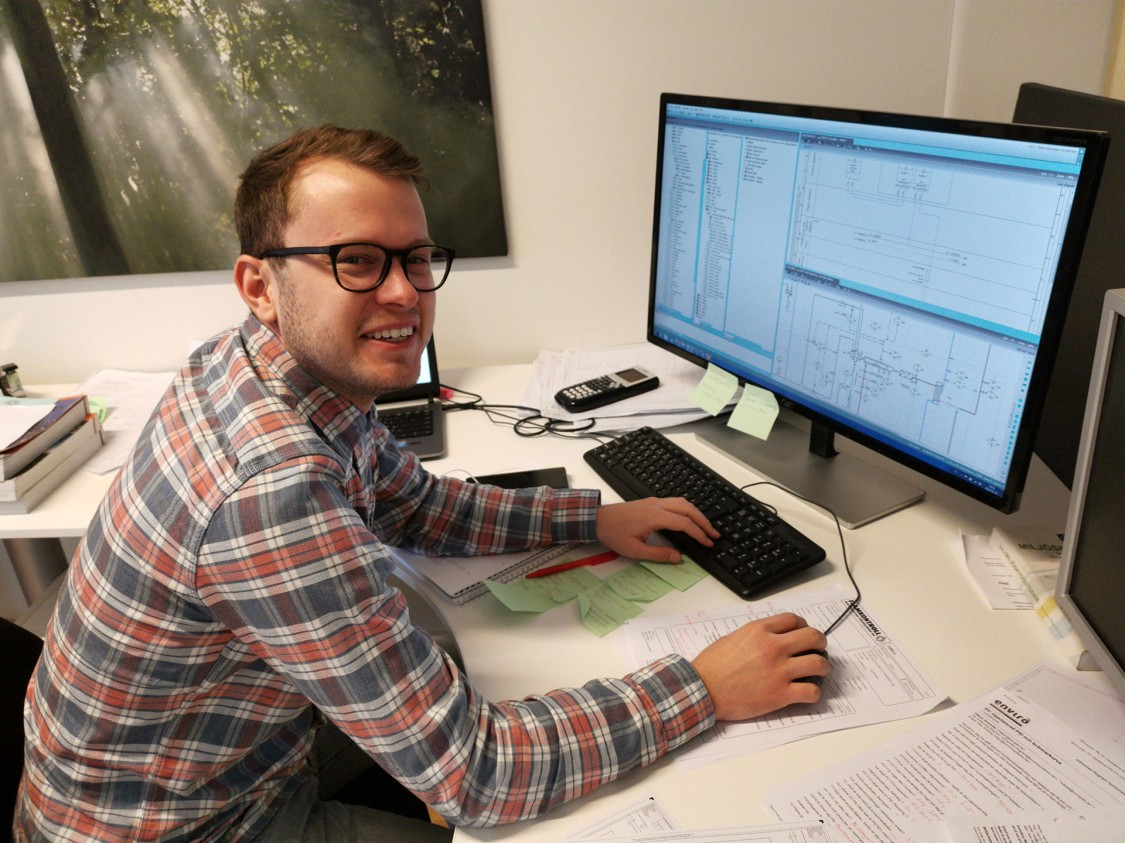 Johannes Hognert, processingenjör på Scandinavian Enviro Systems