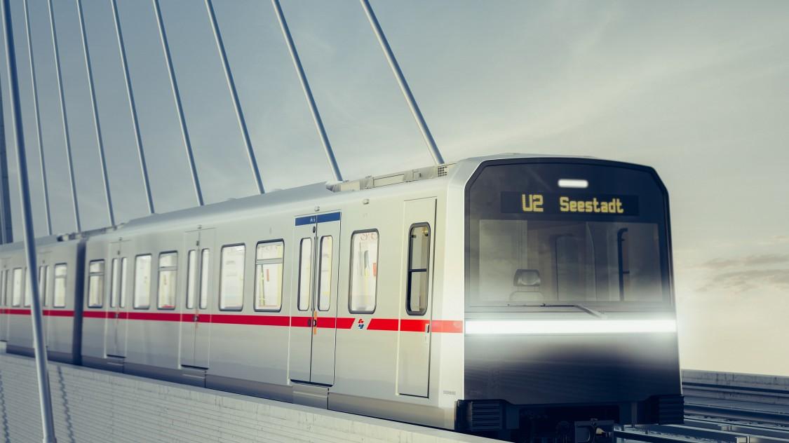 Bild eines X-Wagen Metro-Zugs von Siemens Mobility.