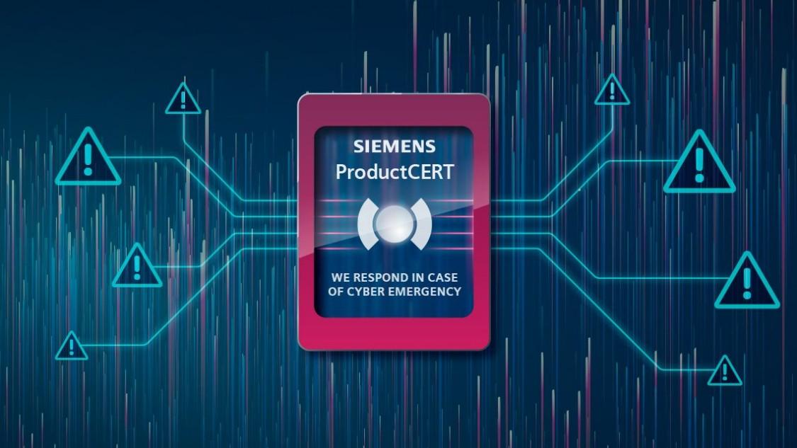 Siemens ProductCERT display