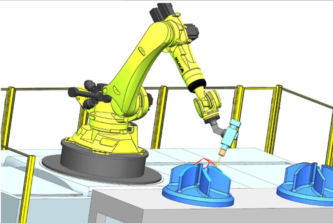 NC CAM Robotics – programmera robotar med NX CAM för att utföra NC-bearbetningsoperationer med mycket hög precision.