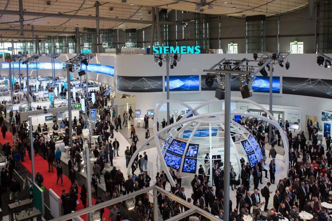 Messestand Siemens Deutschland