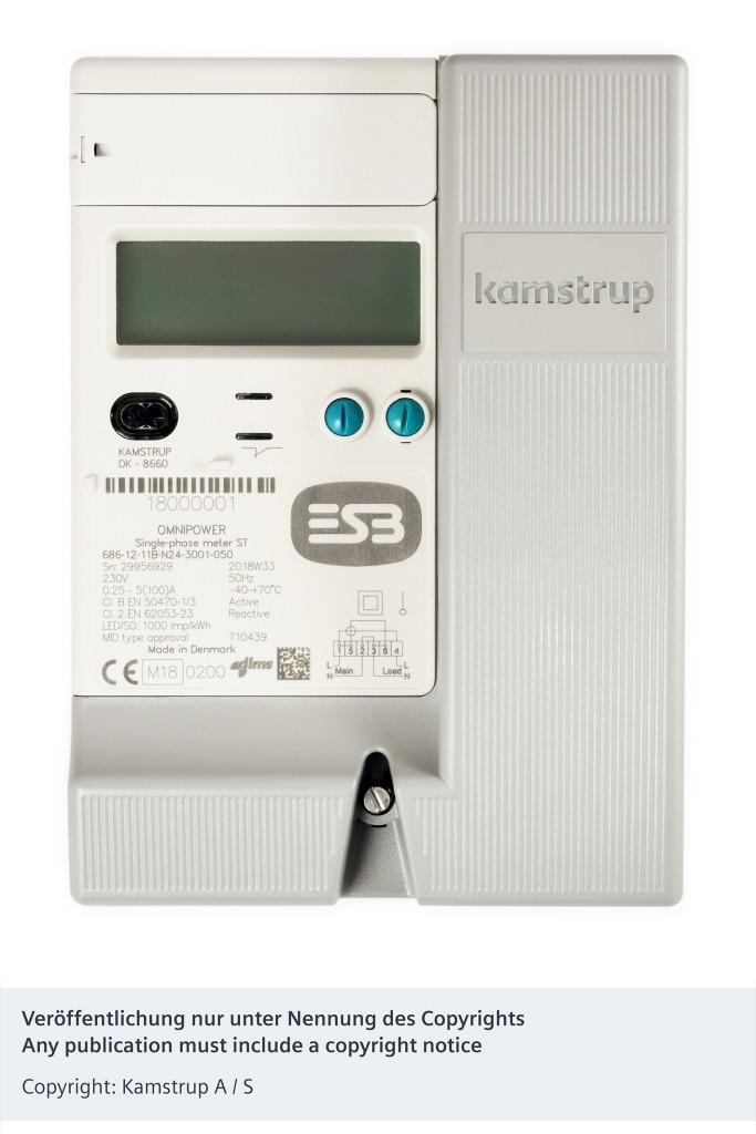 The picture shows the Kamstrup Omnipower Frontpanel.