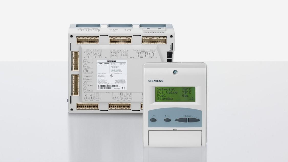 Produktabbildung der zwei Brennermanagement-Systeme LMV5 und AZL5