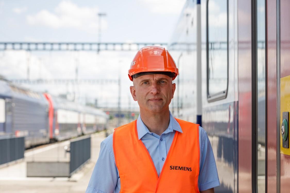 Portraitfoto Hanspeter - Siemens Mobility Schweiz Kampagne
