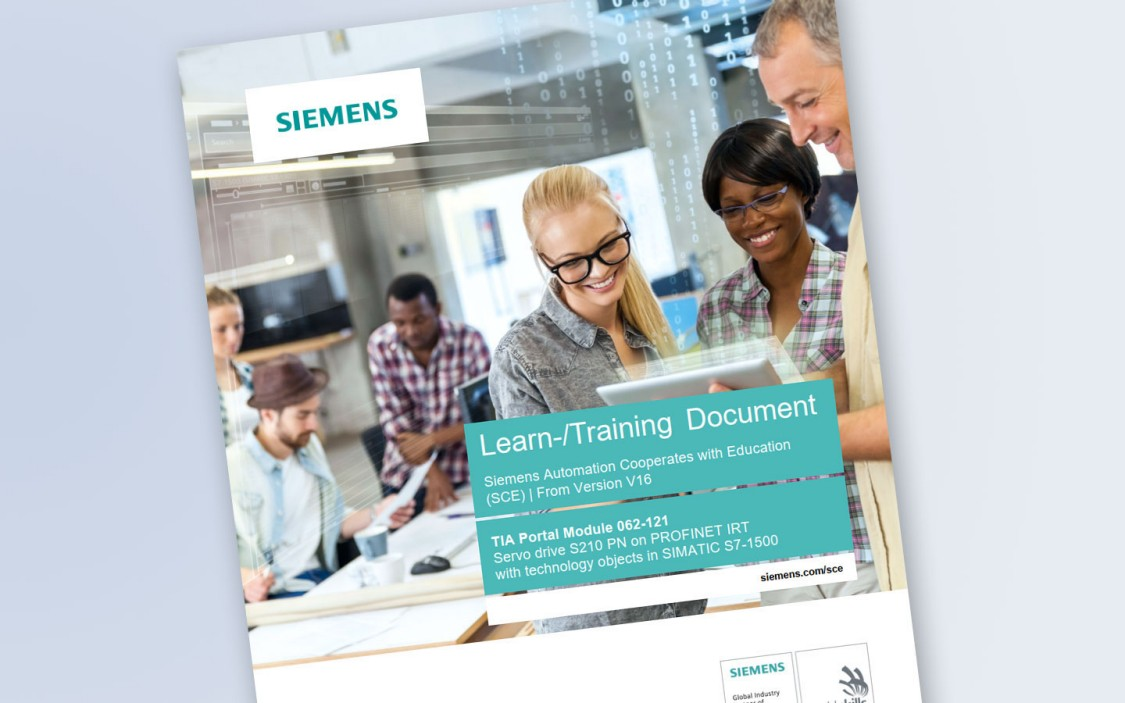 Image of the SCE learning and training document for the Servo Drive S210 learning module