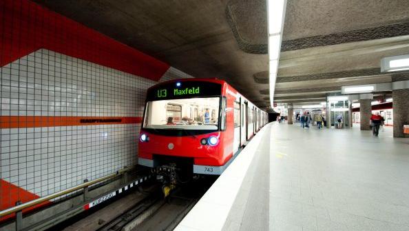 Germany's first driverless metro line, Nuremberg, Germany