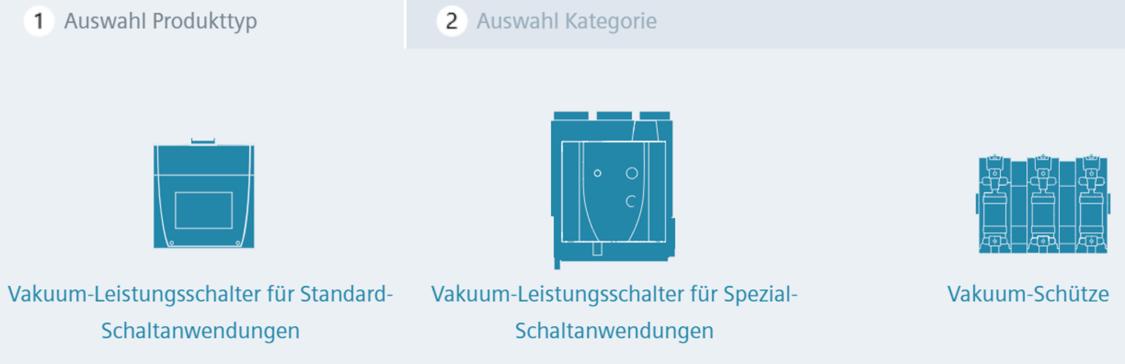 Grafischer Konfigurator offener Leistungsschalter 3WA