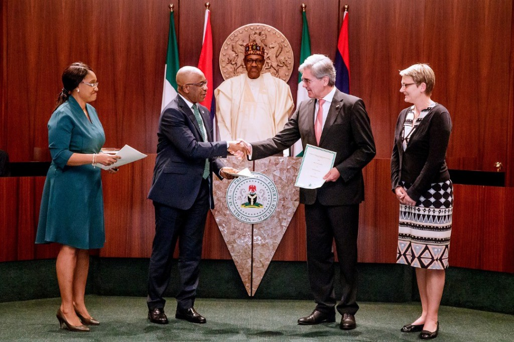 Signing of the Implementation Agreement for Nigeria in Abuja.