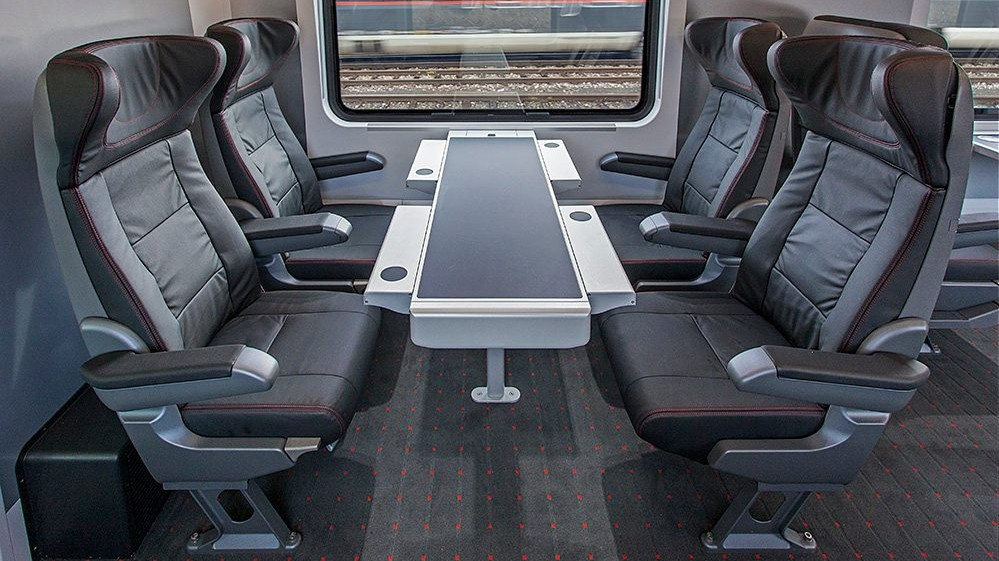 Viaggio Comfort – Austrian Federal Railways (ÖBB), Railjet: first class