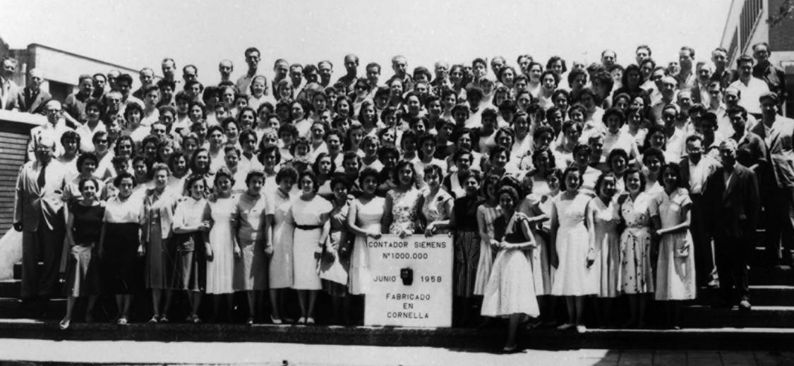 Anlass zum Feiern – Fertigstellung des Millionsten Zählers, 1958