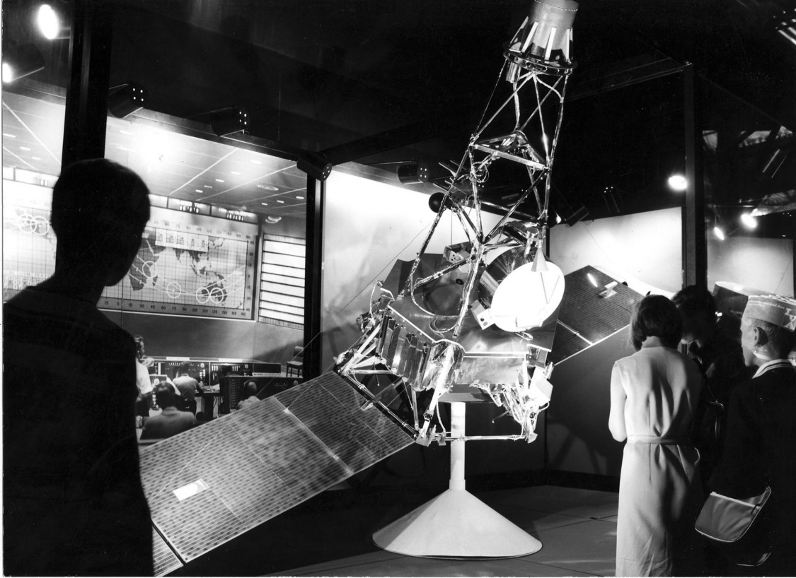 Mars probe Mariner II in an exhibition