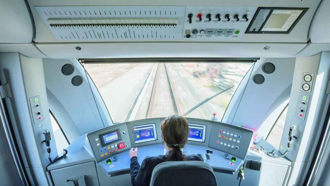 Train supervisor is driving a train