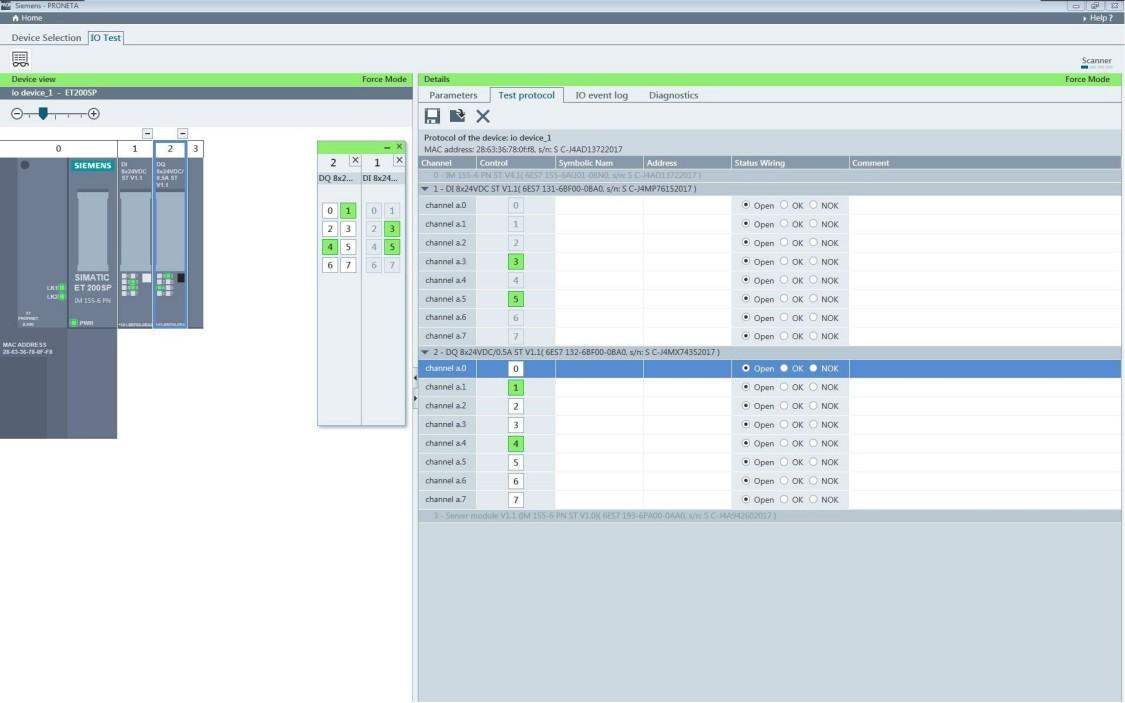 Screenshot aus PRONETA Inbetriebnahme- und Diagnose Tool für PROFINET Netzwerke