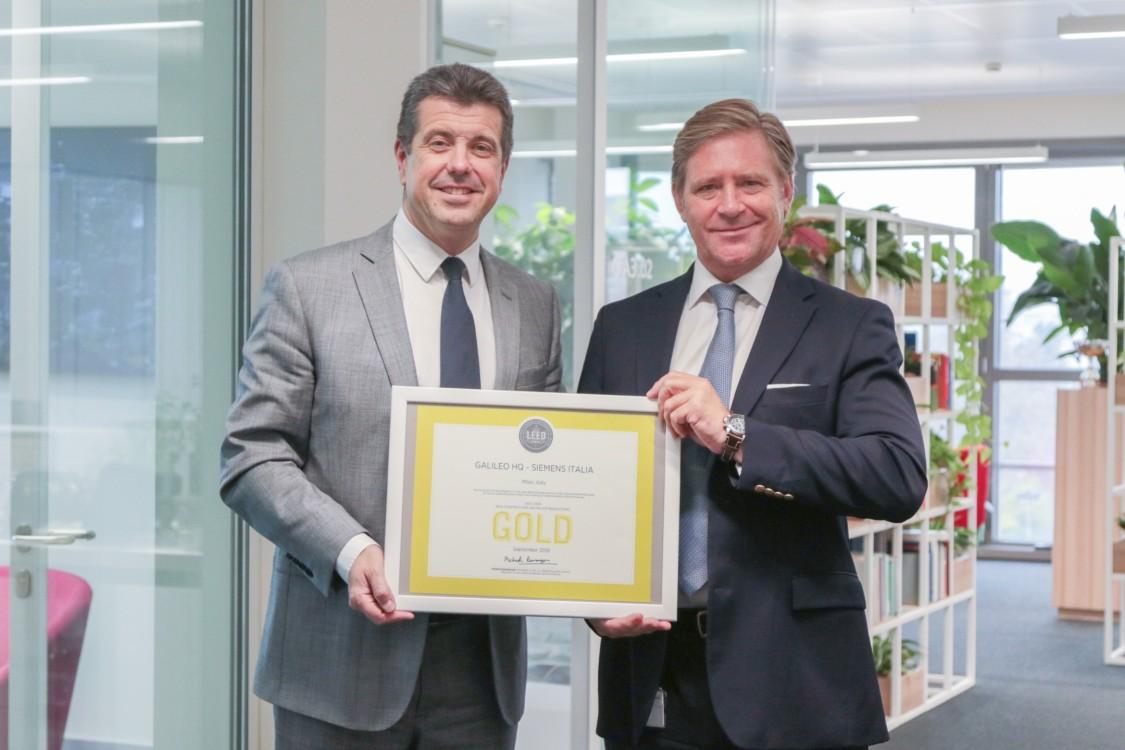 Certificazione LEED Gold per il Quartier generale di Siemens a Milano