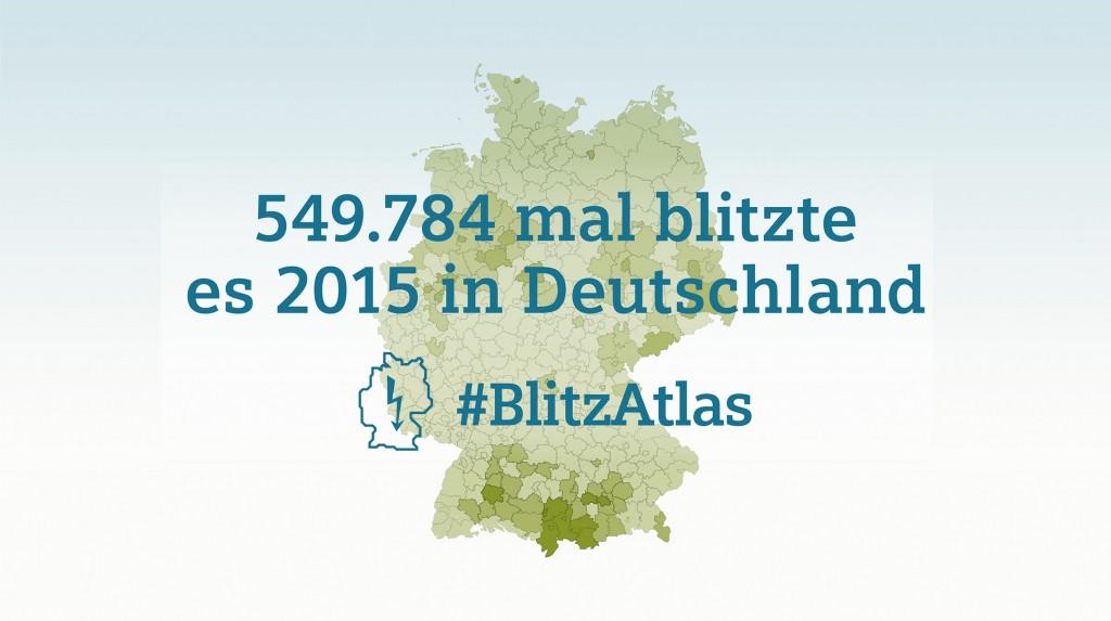 Siemens BlitzAtlas 2015: Gesamtzahl der Blitze in Deutschland 2015