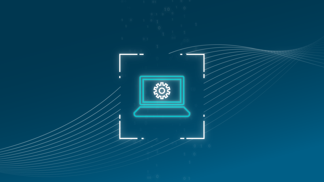 This icon of a laptop represents how one can manage a cybersecurity response and recovery with RUGGEDCOM cybersecurity solutions for critical infrastructure networks.