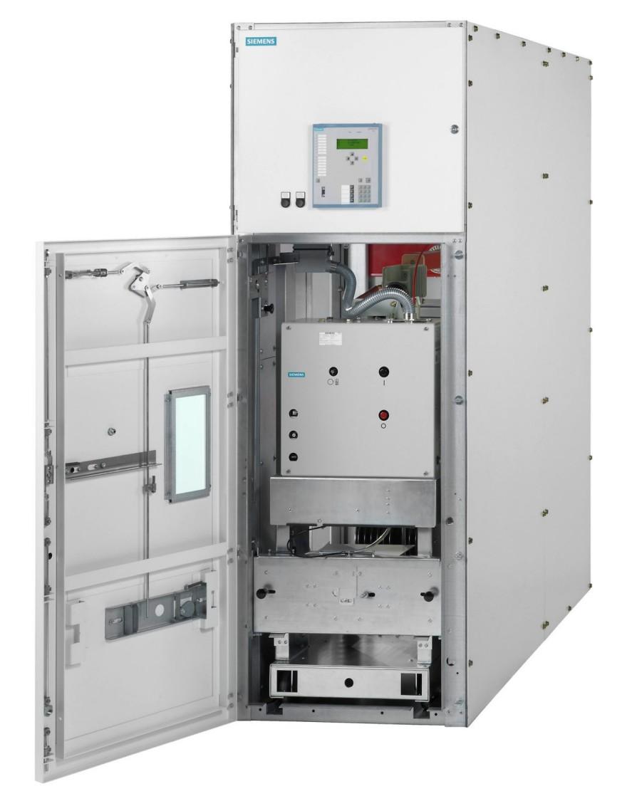 Aparelhagem isolada a gás Sitras ASG15 da Siemens para fonte de alimentação de tração CA.