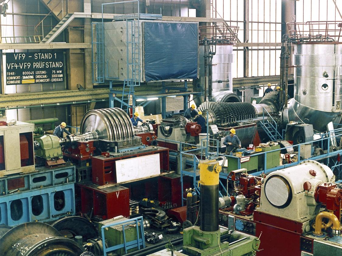 Gas turbine test field of KWU in Berlin-Moabit, 1978