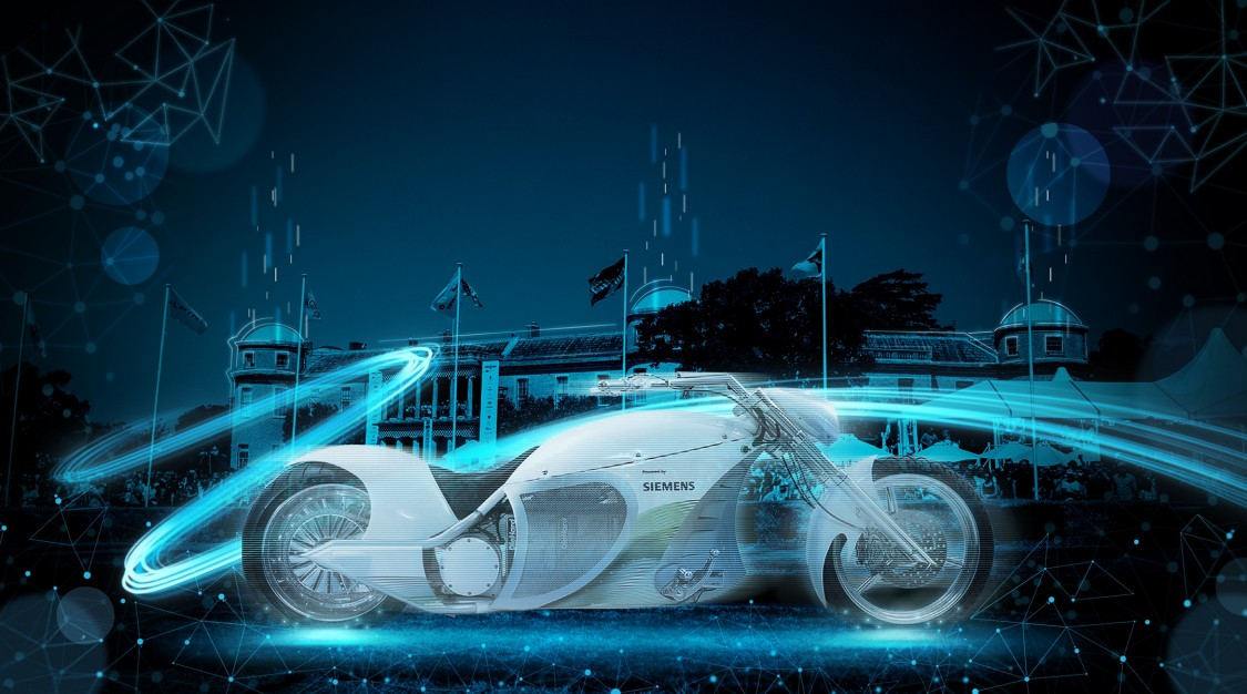 Siemens electric motorbike, the eChopper, at Goodwood Festival of Speed