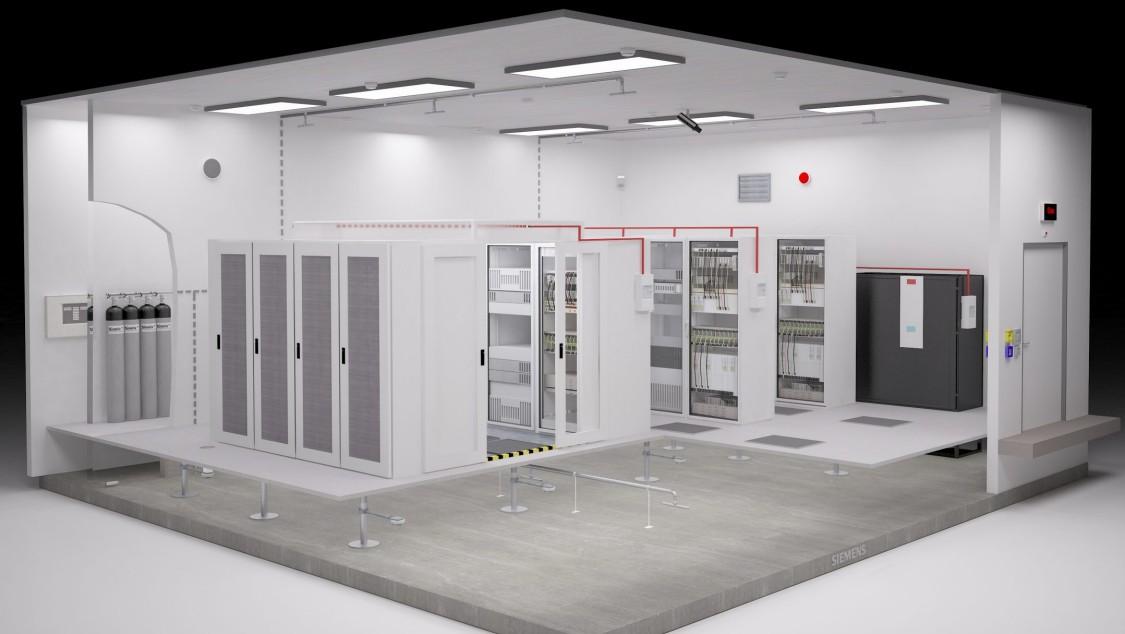 Siemens Brandschutz für Serverräume