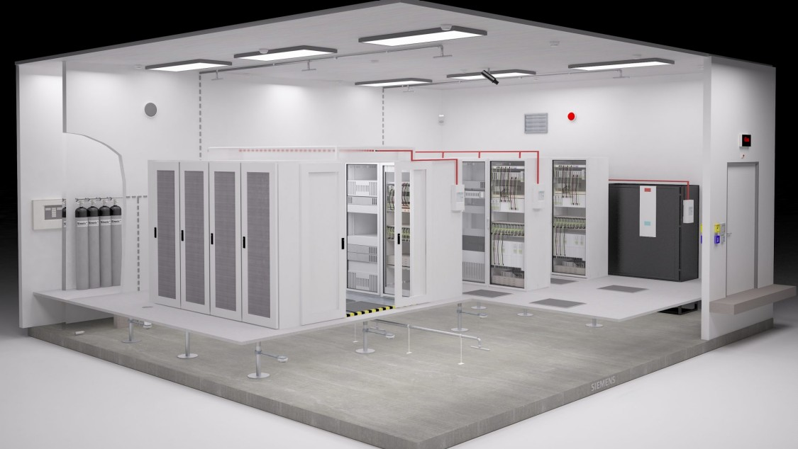 Fire protection for server rooms