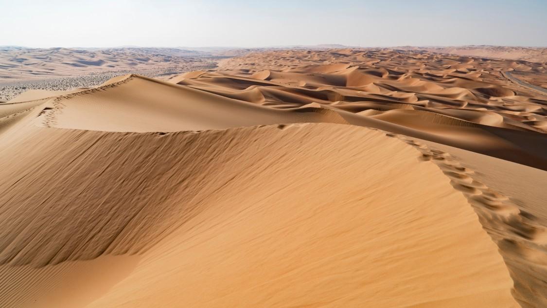 Imagem de uma paisagem desértica