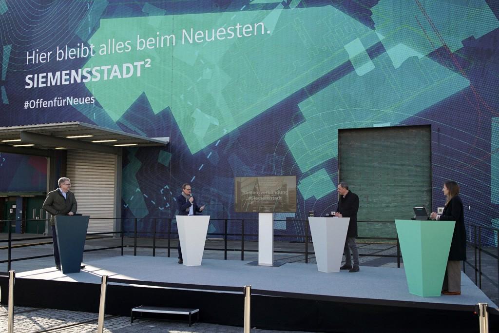 Siemensstadt Square wird Name für Zukunftsort Siemensstadt