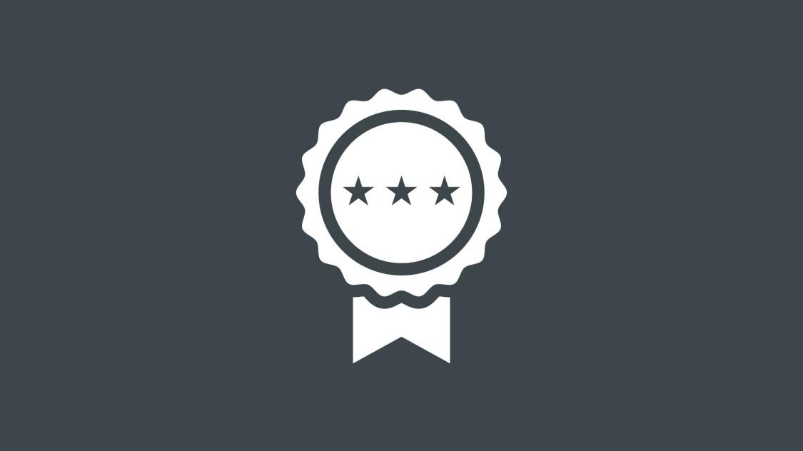 SINEC INSの実証された品質を示す受賞アイコン。